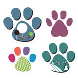 Dog park logos Royalty Free Stock Images