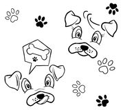 Dog pattern. A illustration of dog images pattern Stock Photo