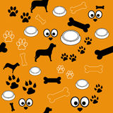 Dog Pattern Brown Black White Royalty Free Stock Image