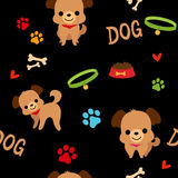 Dog pattern Stock Images