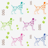 Dog pattern Royalty Free Stock Photo