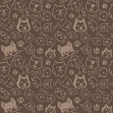 Dog pattern design Royalty Free Stock Photography