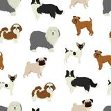 Dog pattern Geometric style. Set Royalty Free Stock Image