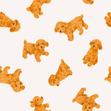 Dog pattern. I made the illustration of the puppy which I loved Stock Photo