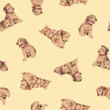 Dog pattern Royalty Free Stock Photos
