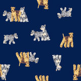 Dog pattern Stock Photography