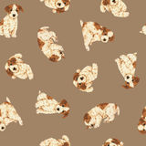 Dog pattern. I made the illustration of the puppy which I loved Royalty Free Stock Photo