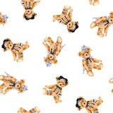 Dog pattern. I made the illustration of the puppy which I loved Stock Images