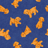 Dog pattern. I made the illustration of the puppy which I loved Royalty Free Stock Images
