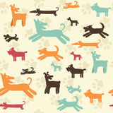 Dog pattern - Illustration Stock Image