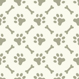 Dog paw footprint seamless pattern Stock Image