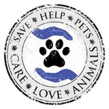 Dog paw hand love sign icon. Pets symbol textured web button.   Royalty Free Stock Image