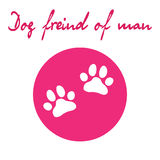 Dog paw icon of dog. Illustration for zoo design Royalty Free Stock Photo