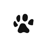 Dog paw icon in flat design Royalty Free Stock Photo