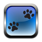 Dog paw metal badge icon Royalty Free Stock Photos
