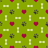 Dog paw pattern Stock Photo