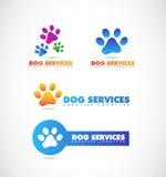 Dog paw pet shop logo Royalty Free Stock Photo