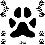 Dog paw print Stock Images