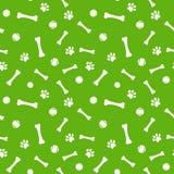 Dog paw print, bone and ball seamless pattern Royalty Free Stock Photos