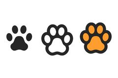 1e10d385dddd Dog paw print. Footprint. Vector icons isolated. On white backgroung vector  illustration
