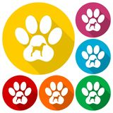 Dog Paw Print icon. Vector icon Stock Photography