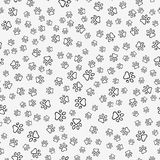 Dog paw print seamless pattern. On white background. Vector stock illustration Stock Photography