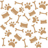 Dog paw prints Royalty Free Stock Image