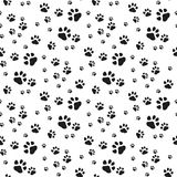 Dog Paw seamless pattern vector footprint kitten puppy tile background repeat wallpaper cartoon isolated illustration royalty free illustration