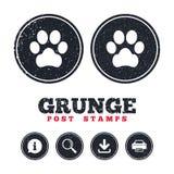 Dog paw sign icon. Pets symbol. Royalty Free Stock Image