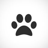 Dog paw vector icon Stock Image