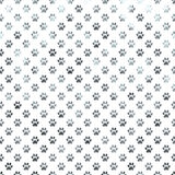 Dog Paw White Silver Metallic Foil Polka Dot Paws Background Stock Image