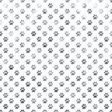 Dog Paw White Silver Metallic Foil Polka Dot Paws Background. Silver and White Dog Paws Metallic Foil Polka Dot Texture Background Pattern Stock Image