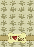 Dog paws with place for the text Stock Photo
