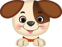 Dog peeking. Image representing a dog peeking, isolated on white, vector design Royalty Free Stock Photo