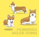 Dog Pembroke Welsh Corgi Cartoon Vector Illustration Royalty Free Stock Image