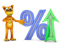 Dog and percent Stock Images