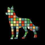 Dog pet color silhouette animal Royalty Free Stock Image