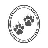 Dog pet logo. Royalty Free Stock Photography