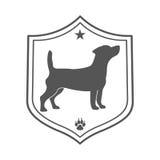 Dog pet logo. Royalty Free Stock Images