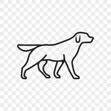 Dog pet outline vector icon royalty free illustration
