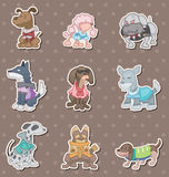 Dog pet stickers Royalty Free Stock Photo