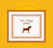 Dog picture frame Royalty Free Stock Images