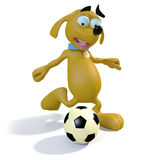 Dog playing soccer Stock Photos