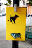 Dog poop bag dispenser Royalty Free Stock Image