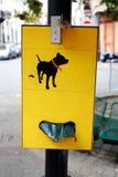 Dog poop bag dispenser Royalty Free Stock Image