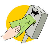 Dog Poop Bag Dispenser Stock Photo
