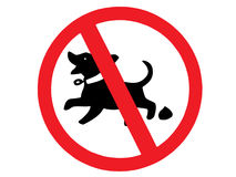 Dog poop sign Royalty Free Stock Images