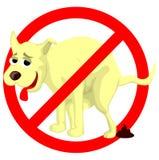 Dog poop sign Stock Photos