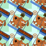 Dog pound seamless background design Stock Image