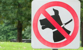 Dog prohibited sign Stock Photos